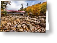 Fall At Albany Covered Bridge Greeting Card