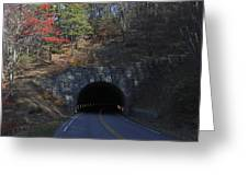 Fall At Bluff Mountain Tunnel Greeting Card