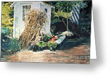 Fall At Ivy Corners Greeting Card by Elizabeth Carr