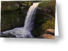 Fall At Minnehaha Falls Greeting Card
