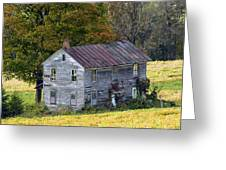 Fall At The Forgotten Farmhouse Greeting Card