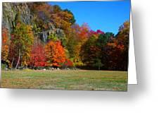 Fall At The Hook Greeting Card