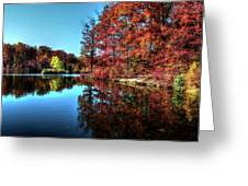 Fall At The Crosspointe Lake Greeting Card