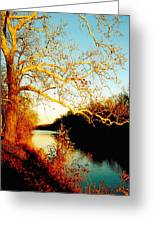 Fall At The Raritan River In New Jersey Greeting Card