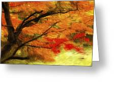 Fall At The Temple Greeting Card