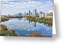 Fall Austin Skyline Greeting Card