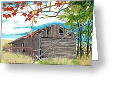 Fall Barn Greeting Card