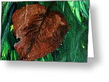 Fall Brown Leaf Greeting Card