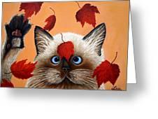Fall Cat Greeting Card
