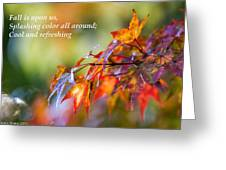 Fall Color - Haiku Greeting Card