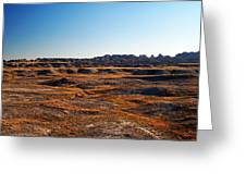 Fall Color In The Badlands Greeting Card