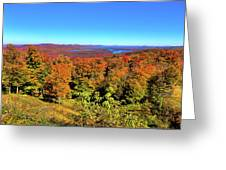Fall Color On The Fulton Chain Of Lakes Greeting Card