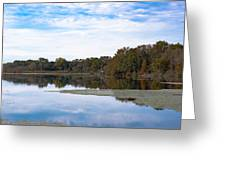 Fall Color On The Pond Greeting Card