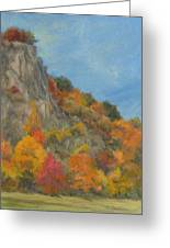 Fall Colors At Hook Mountain Greeting Card