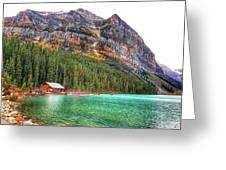 Fall Colors At Lake Louise Alberta  Greeting Card