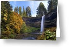 Fall Colors At South Falls Greeting Card