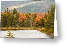 Fall Colors By The Lake Greeting Card