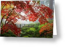 Fall Colors By The Moon Bridge Greeting Card
