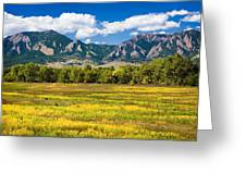 Fall Colors Of Boulder Colorado Greeting Card