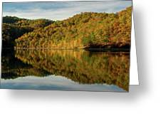 Fall Colors On Lake Reflection Greeting Card