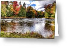 Fall Colors On The Moose River Greeting Card