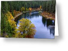 Fall Colors On The River Greeting Card