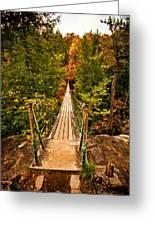 Fall Creek Falls Bridge Greeting Card