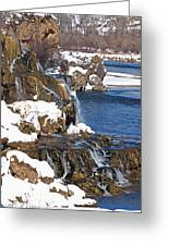 Fall Creek Falls In Winter Greeting Card