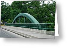 Fall Creek Gorge Bridge Cornell University Ithaca New York Greeting Card