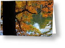 Fall Day At The Lake Greeting Card