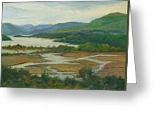 Fall Day Constitution Marsh View From Boscobel Greeting Card