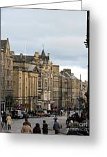 Fall Day In Edinburgh Greeting Card