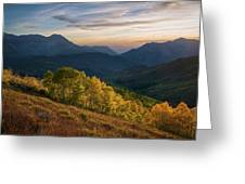 Fall Evening In American Fork Canyon Greeting Card