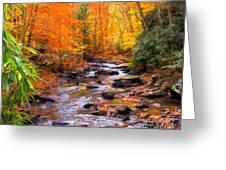 Fall Fire Greeting Card
