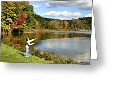 Fall Fishing Greeting Card by Kristin Elmquist