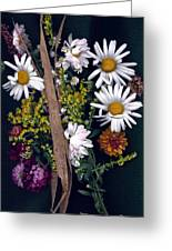Fall Floral Collage Greeting Card