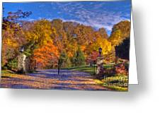 Fall Foliage Gated Estate Greeting Card