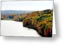 Fall Foliage In Hudson River 13 Greeting Card