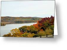 Fall Foliage In Hudson River 5 Greeting Card
