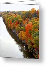 Fall Foliage In Hudson River 6 Greeting Card