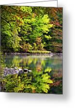 Fall Foliage Reflection Greeting Card