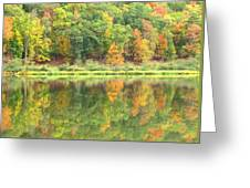 Fall Forest Reflection Greeting Card