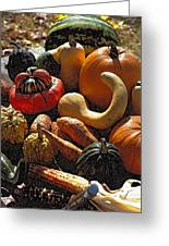 Fall Fruit And Vegetables  Greeting Card