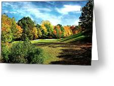 Fall Golf Course Beauty Greeting Card