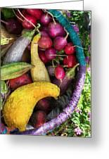 Fall Harvest Basket Greeting Card