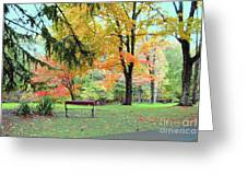Fall In Brown County Greeting Card