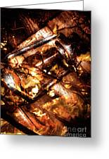Fall In Fire Greeting Card
