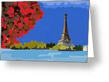 Fall In Paris Greeting Card
