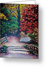 Fall In Quebec Canada Greeting Card by Karin  Dawn Kelshall- Best