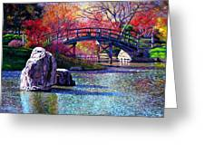 Fall In The Garden Greeting Card